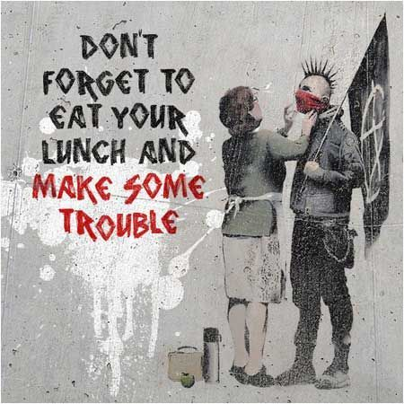 Banksy Don't Forget Your Scarf Punk Graffiti - Bristol Museum #ad #graffitiart