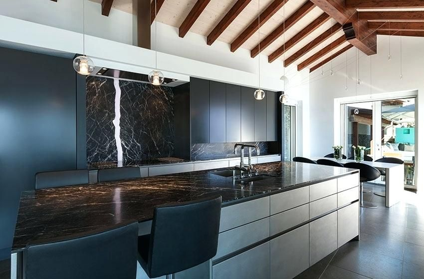 kitchens with black granite countertops modern kitchen ... on Natural Maple Cabinets With Black Granite Countertops  id=86284