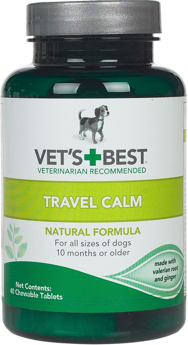 Vet S Best Travel Calm Tablets For Dogs 40 Ct Dog Vitamin Supplements Dog Supplements Calming Treats For Dogs