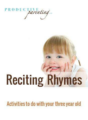 Productive Parenting Preschool Activities Reciting