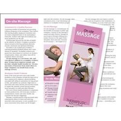 OnSite Chair Massage Brochure  Pack  Brochures  Postcards