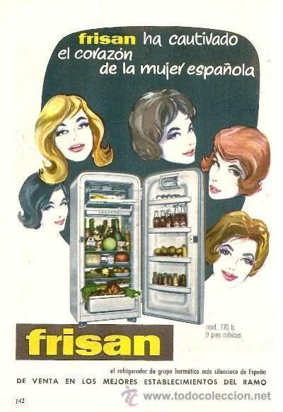 Publicidad refrigerador frisan electrodom sticos anuncio - Electrodomesticos retro ...