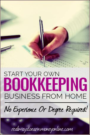 Start A Bookkeeping Home Business No Degree Required