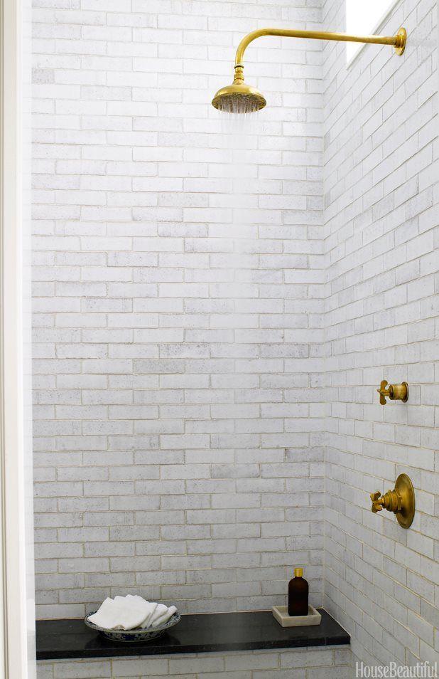 Pin By Jessica Nixon With JNID Studios LLC On Baths Pinterest - Modern brass bathroom fixtures