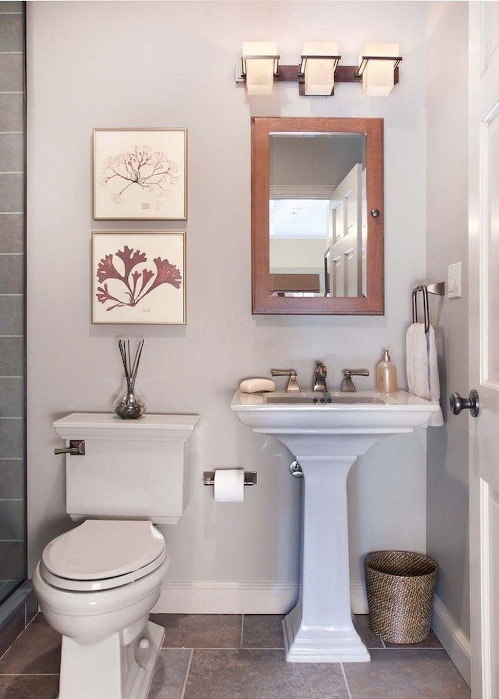150 Amazing Small Farmhouse Bathroom Decor Ideas And ... on Nice Bathroom Designs For Small Spaces  id=23380