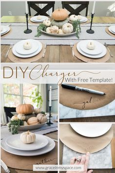 DIY Project Thanksgiving Chargers for Less Than $4. Thanksgiving Table SettingsThanksgiving ... & DIY Project: Thanksgiving Chargers for Less Than $4 | Thanksgiving ...