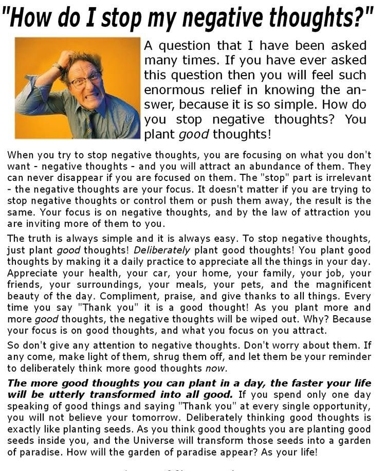 #stop #negative #thoughts