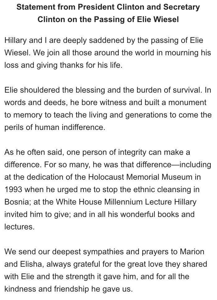 Tweet With Replie By Shari White 07shari22 Elie Wiesel Personal Integrity Essay The Holocaust