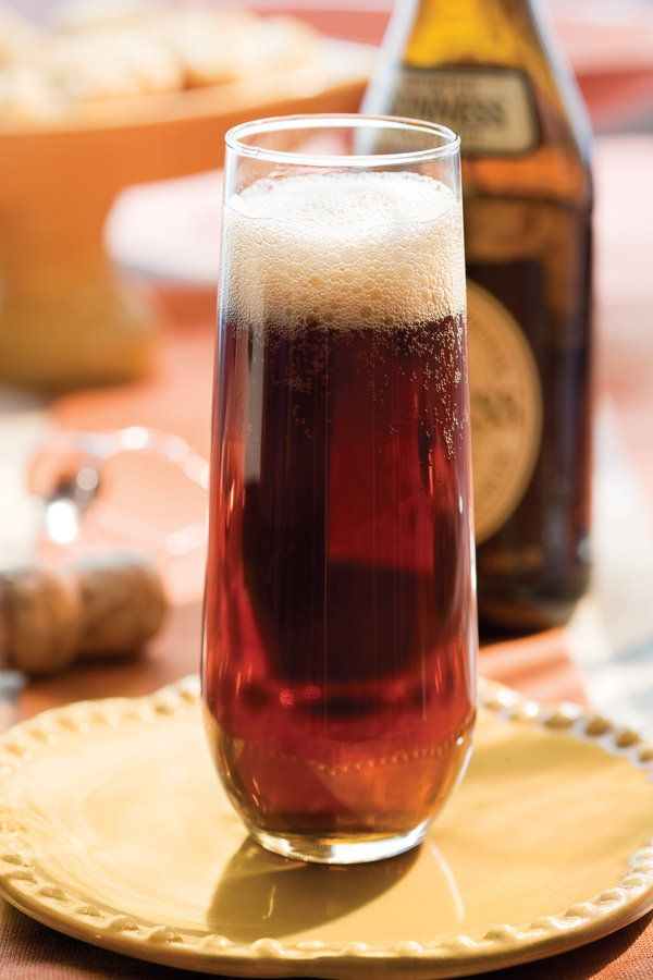An Irish meal isn't complete without a good beer like the iconic Irish stout Guinness. Black Velvet lightens the dark beer by mixing it with sparkling wine. Serve it in Champagne flutes for an elegant touch.  Recipe: Black Velvet
