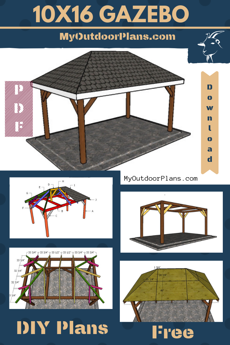 10x16 Gazebo Plans Gazebo Plans Wooden Gazebo Plans Rectangular Gazebo