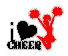 I Love Cheer SVG Studio 3 DXF PS Ai and Pdf by BoodlebugGraphics