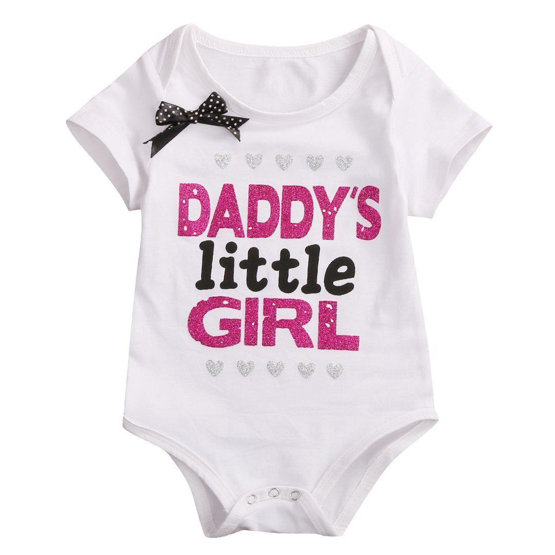 Daddy/'s Prince Princess Short Sleeve Boy Girl Rompers Baby Grows Newborn 0-18M