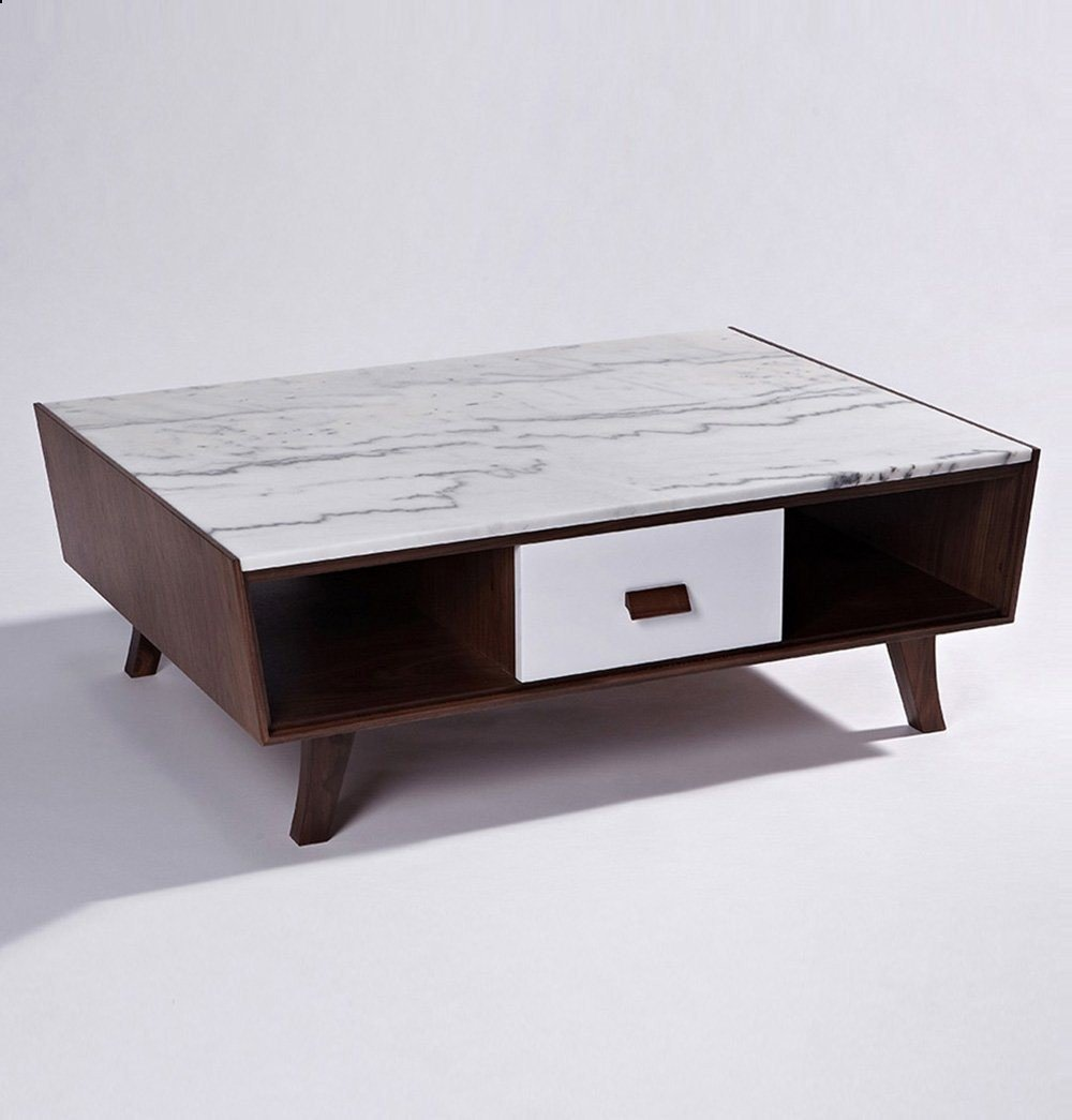 Luxury Vera Wood Marble Coffee Table Faux Marble Coffee Table Modern Coffee Tables Coffee Table With Drawers