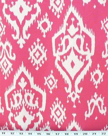 Raji Candy Pink White Fabric Pink Candy Drapery Fabric Fabric