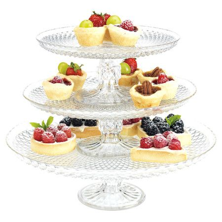 Serve an array of cookies and tarts on these eye-catching cake plates. Product  sc 1 st  Pinterest & Serve an array of cookies and tarts on these eye-catching cake ...