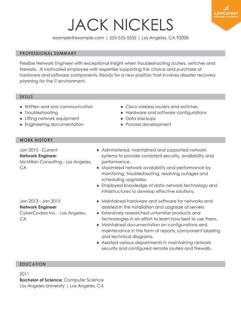 9 Best Resume Formats of 2019 LiveCareer, ,9 best resume