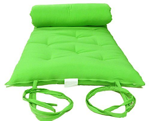 Brand New Queen Size Lime Traditional Japanese Floor Futon Mattresses Foldable Cushion Mats Yoga Meditaion 60