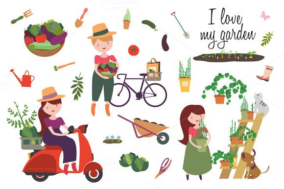 I love my garden by Severalmilk on @creativemarket
