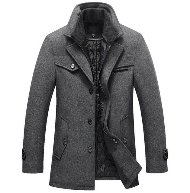 WEEKLY DEAL Men's Thompson Double Lined Wool Pea Coat in