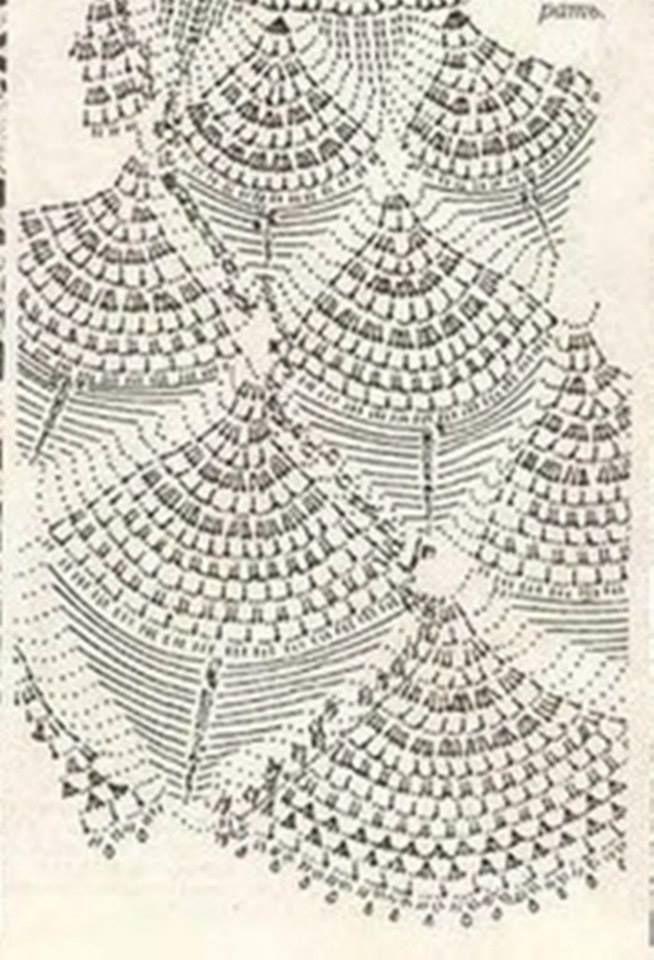 Con ondas   faldas a crochet   Ganchillo tunecino, Croché y Ganchillo