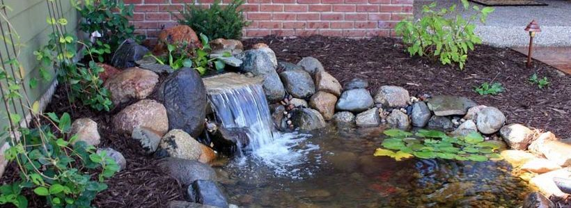 100 Marvelous Small Waterfall Pond Landscaping Ideas For Backyard Https Decomg Com 100 Marvelous Small Wa Waterfalls Backyard Pond Landscaping Ponds Backyard
