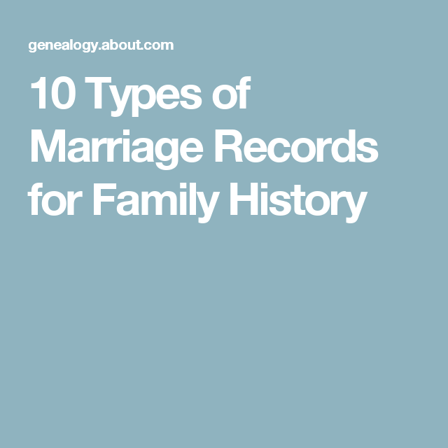 10 Types of Marriage Records for Family History Research
