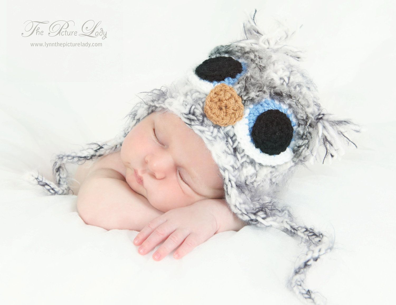 Fuzzy OWL Bird Beanie Hat Newborn Baby by PreciousMomentsProps ...