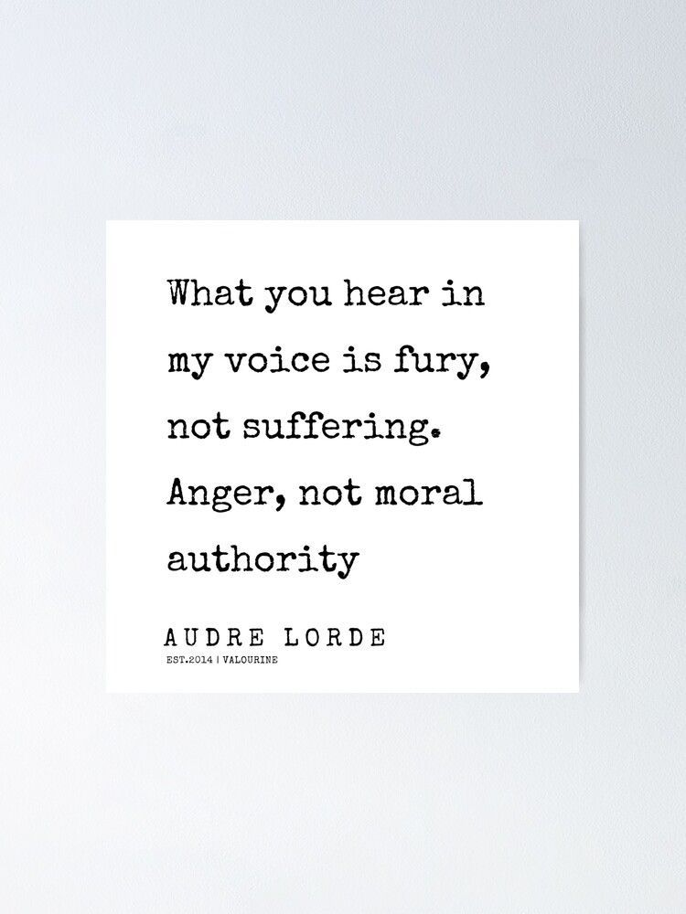 46  | 200302 | Audre Lorde Quotes Poster by QuotesGalore