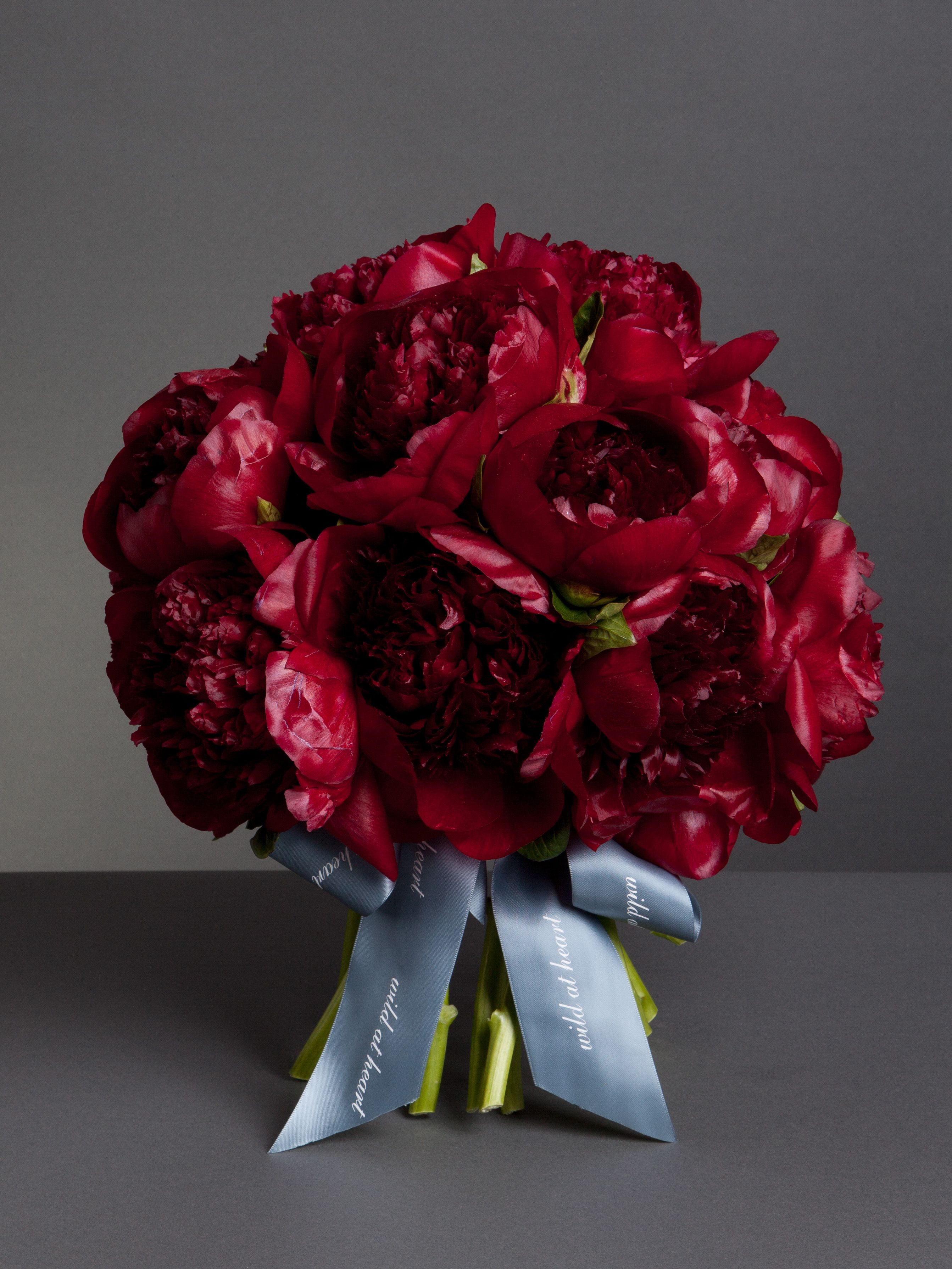 red peony bouquet Google Search Peonies bouquet