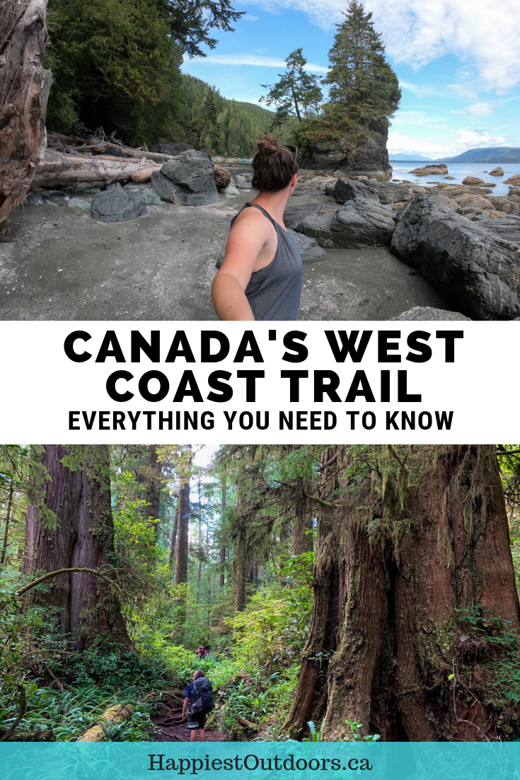 Everything you need to know to hike the West Coast Trail in Canada. This rugged trail on Vancouver Island takes 7-days and challenges experienced hikers. Find out how to get there, how much it costs, how to book and other prep tips. #WestCoastTrail #Canada #BritishColumbia #VancouverIsland #hiking