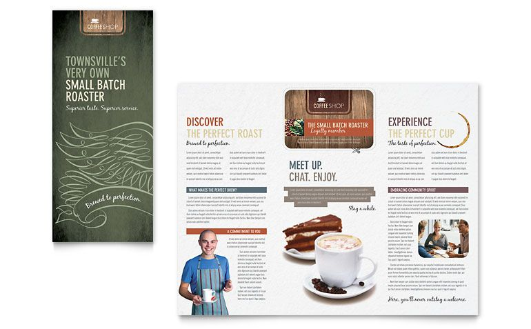 Coffee Shop Brochure Design  Tri Fold Brochure