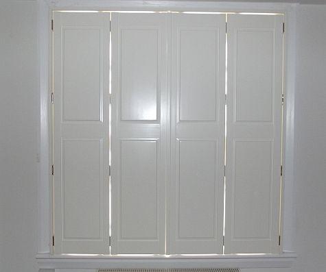 Solid Bi Fold Shutters   Window Shutters By Shutter Master Of London