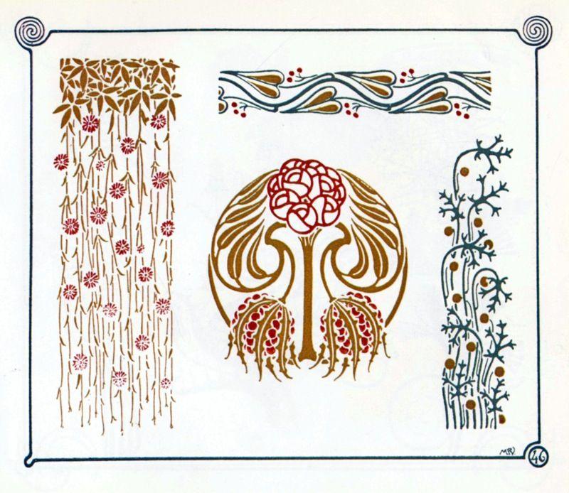 Jugendstil ornamente art nouveau jugendstil for Ornamente jugendstil