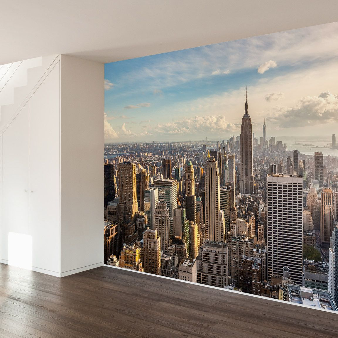 One for the dreamers wall mural decal wall mural decals for Cityscape murals photo wall mural