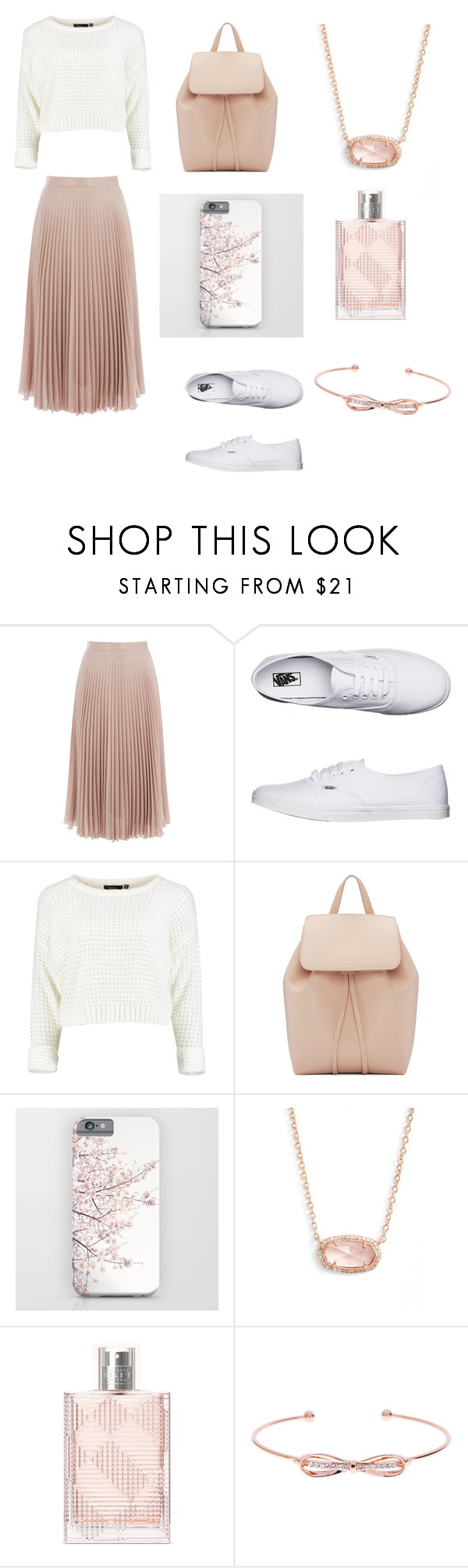 """Untitled #236"" by agnes-18 ❤ liked on Polyvore featuring Warehouse, Vans, Mansur Gavriel, Kendra Scott, Burberry and Ted Baker"