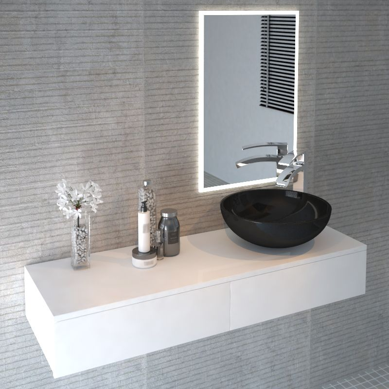 Cloud Wall Hung Vanity Unit White