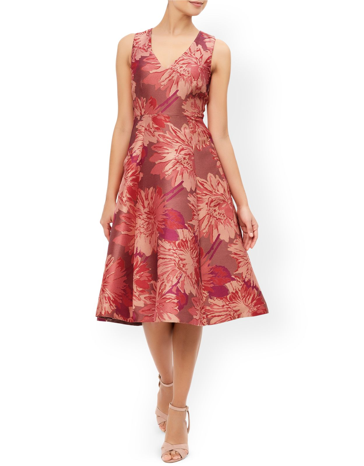 Posey Jacquard Dress | Pink | Monsoon | Mothers of the Bride & Groom ...