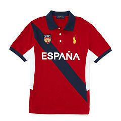 España Cotton Mesh Polo - Boys 1 ½ - 6 years Polo Shirts & Rugbys  - Ralph Lauren UK