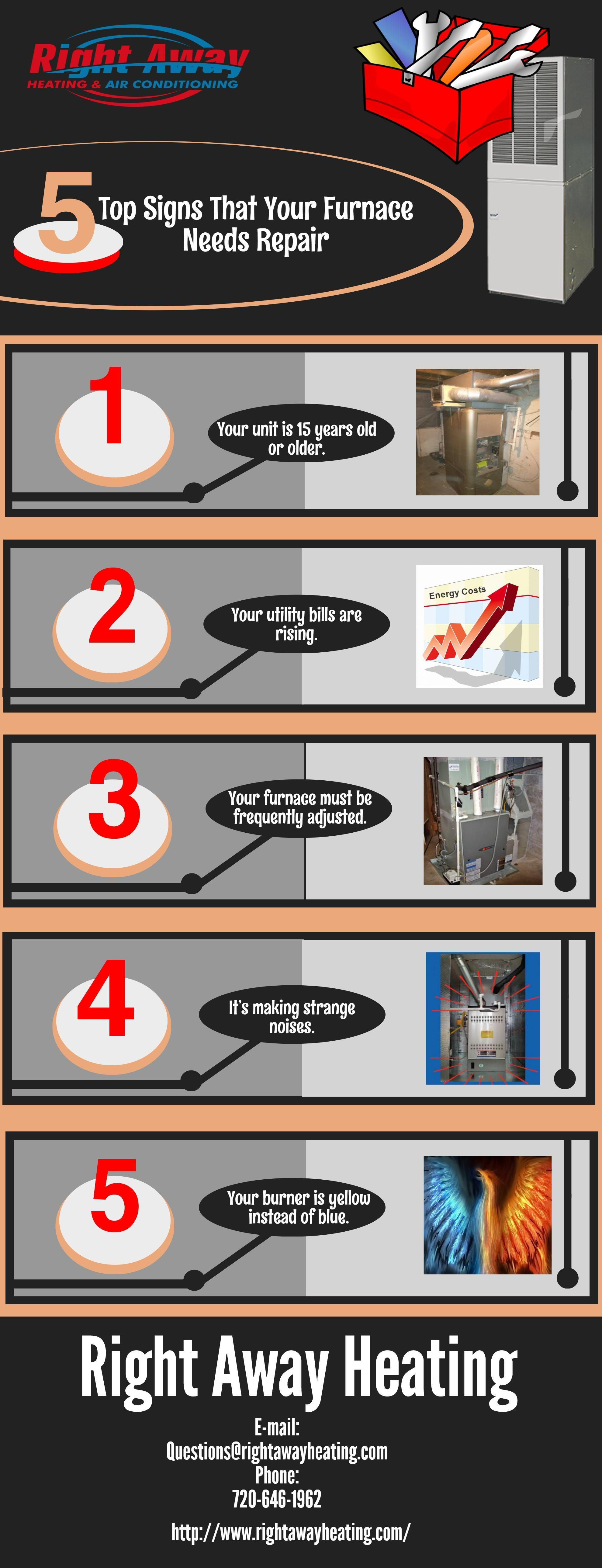 5 Top Signs That Your Furnace Needs Repair Heating