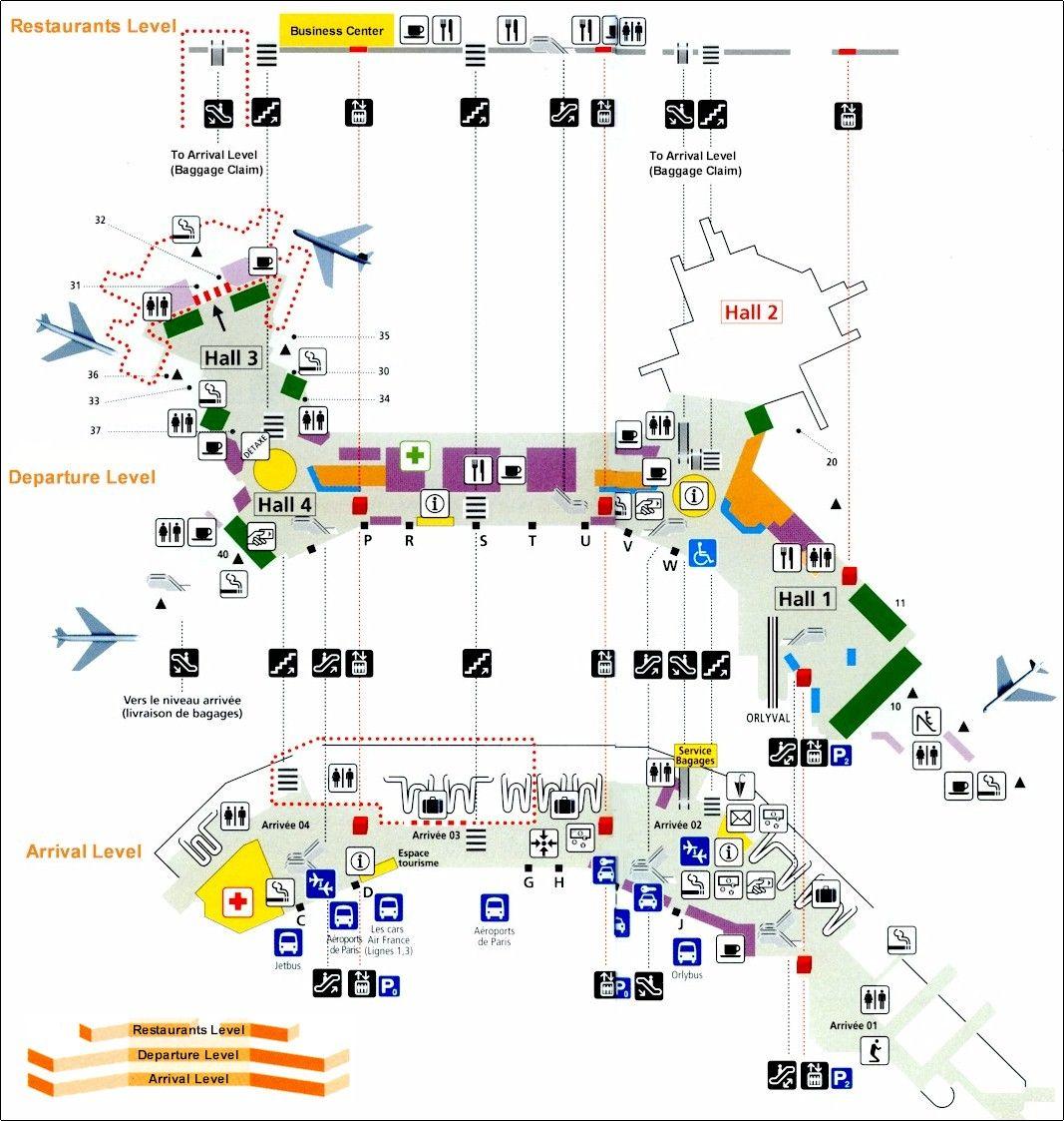 Paris Airport Orly West Teminal
