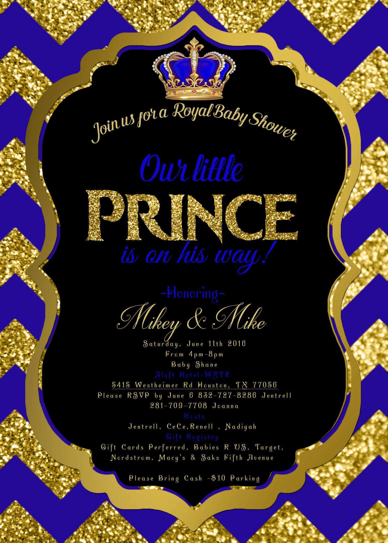 Royal Baby shower invitation Royal prince Invite