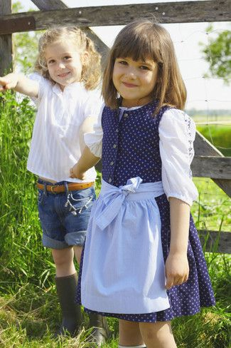 Schnittmuster: Dirndl - Kinder - Schürze - Mädchen - Gr. 92 - 188 ...