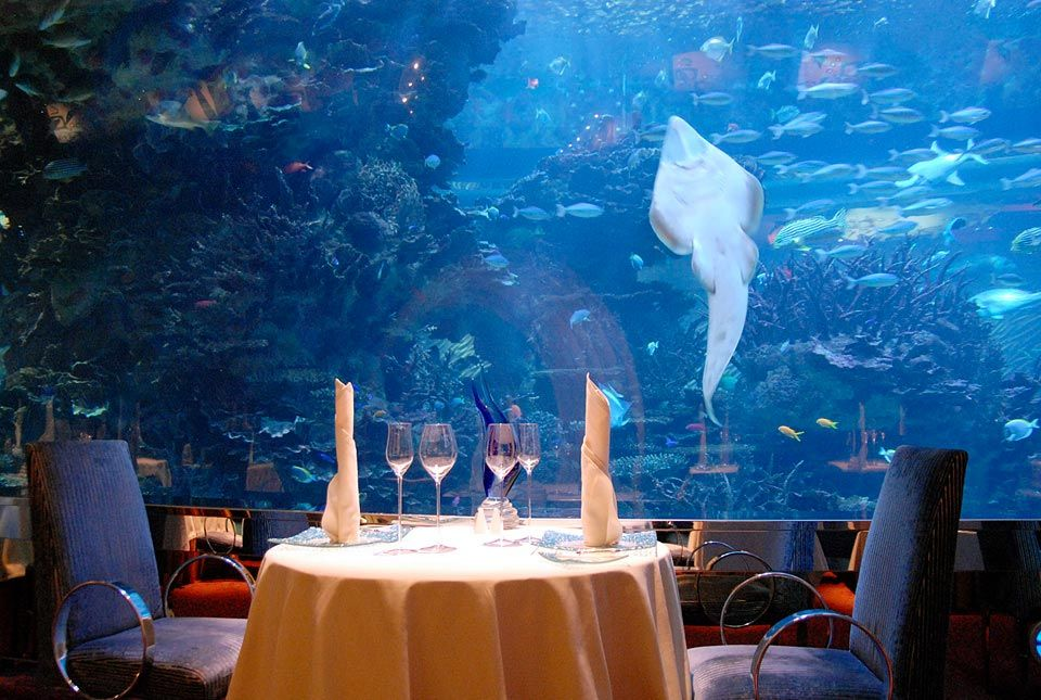 The Atlantis Hotel Has An Underwater Restaurant In Dubai However I Dont Know If This Is That