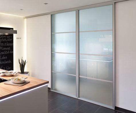 Schiebetür matt mit Sprossen deckenhoch Türen/Treppen ect Pinterest