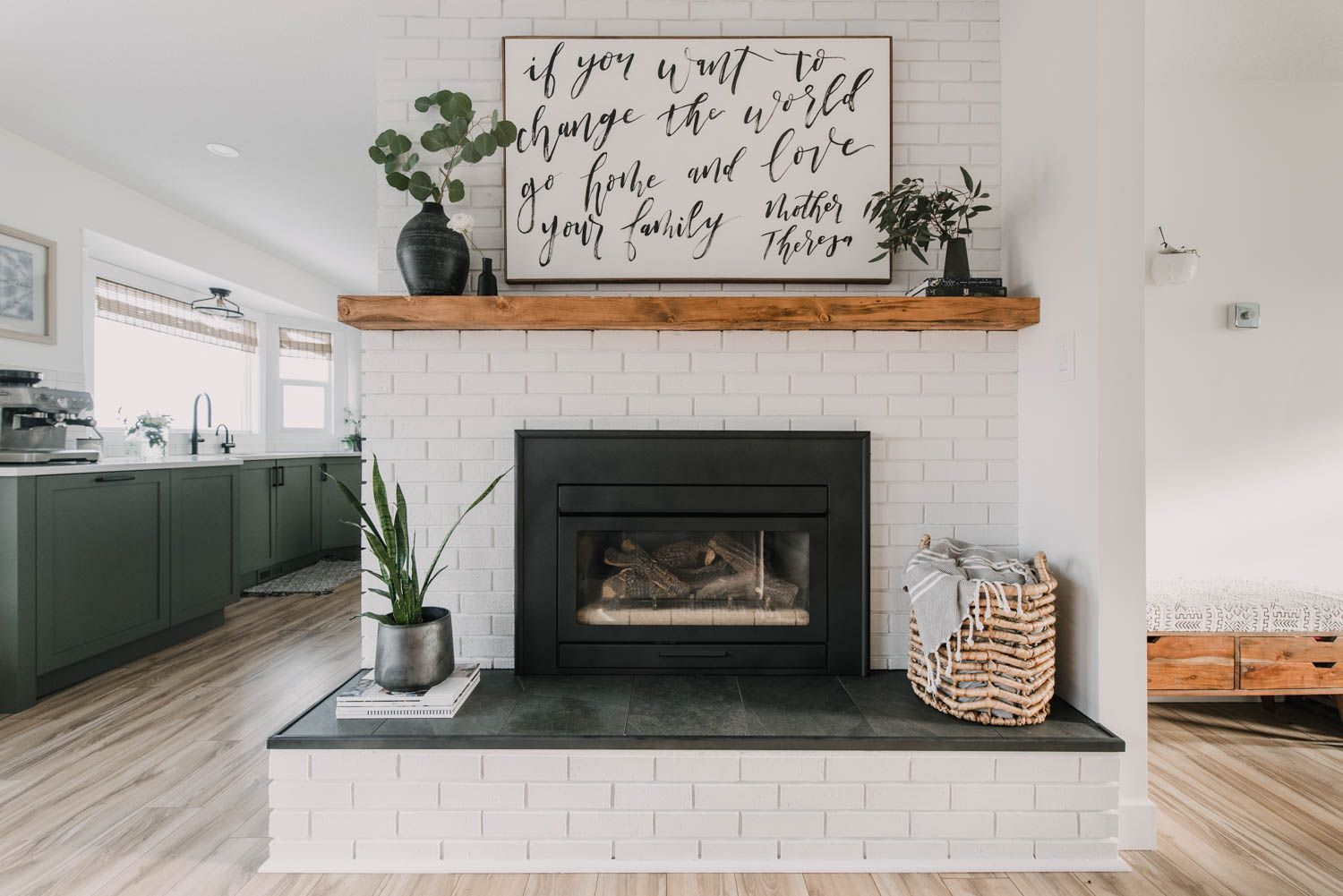 DIY Brick Fireplace Makeover in 2020 (With images) Wood