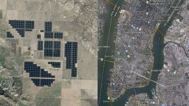 Satellite Image Shows Off The World's Largest Solar Farm