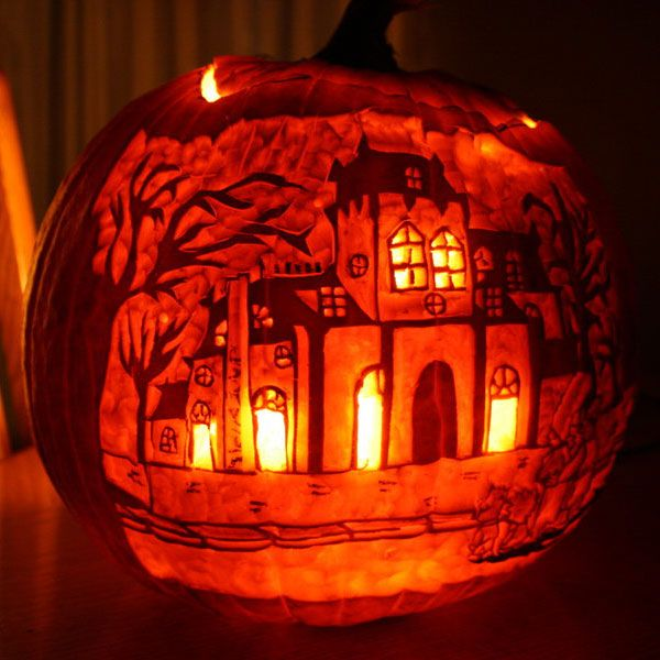 30+ Best Cool, Creative & Scary Halloween Pumpkin Carving Designs & Ideas 2014