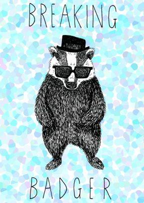 Breaking Badger Birthday Card Scribbler Cards Barsuk Kartinki Vyshivka