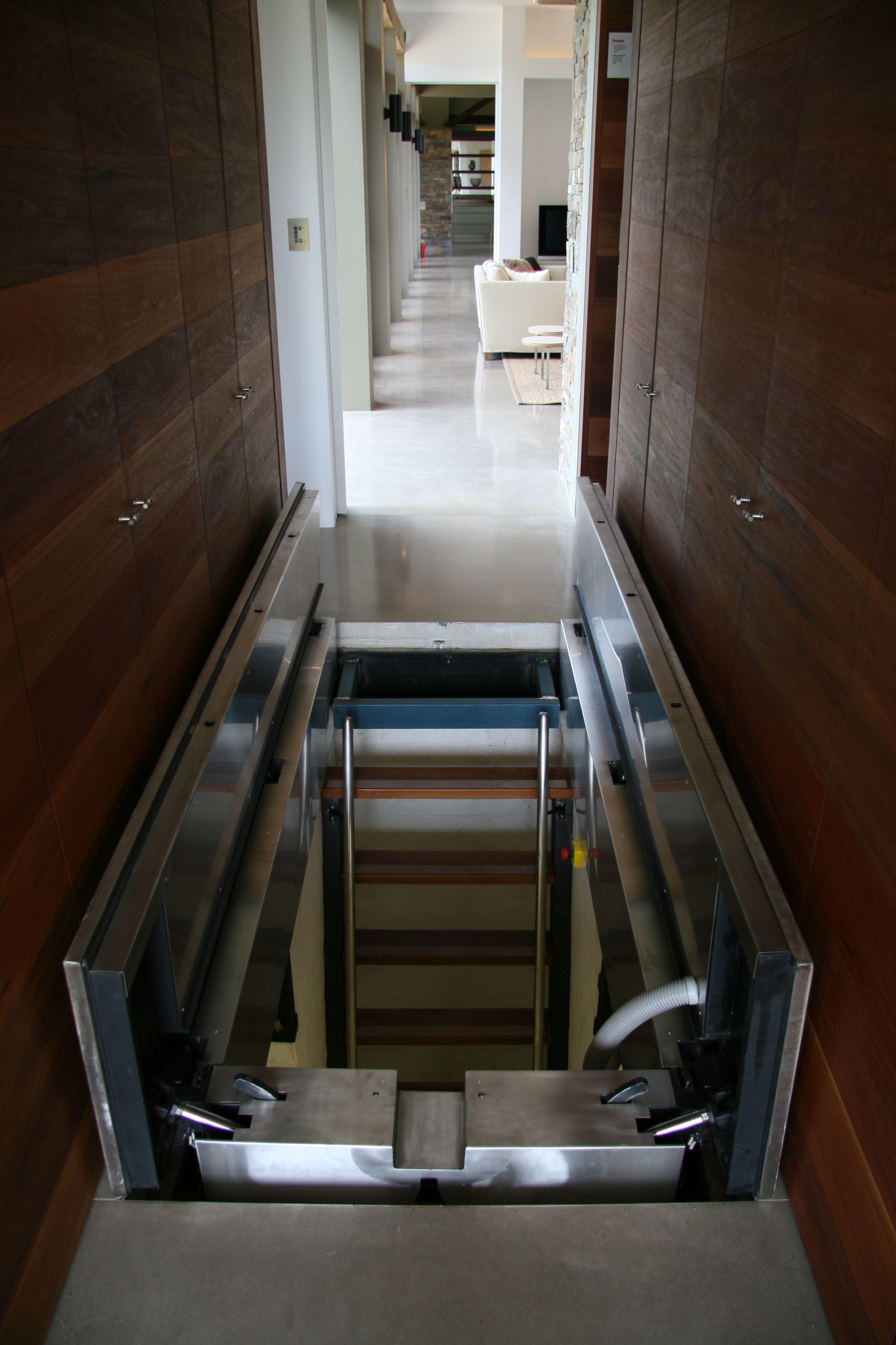 Safe Room Design: This Panic Room Was Built Into The Ground Within A Home