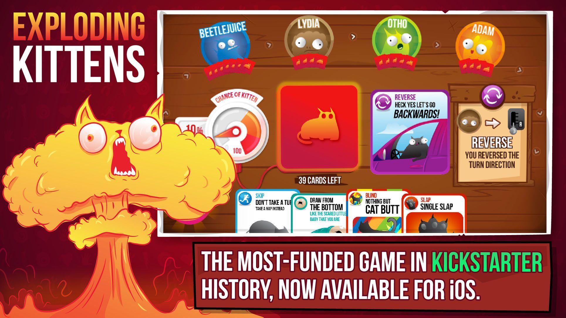 Exploding Kittens庐 Entertainment Card Apps Ios Exploding Kittens